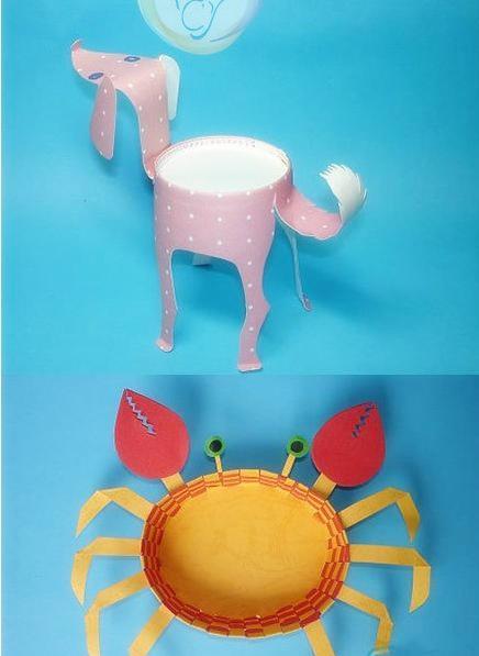 暑假亲子活动可以做的纸杯动物