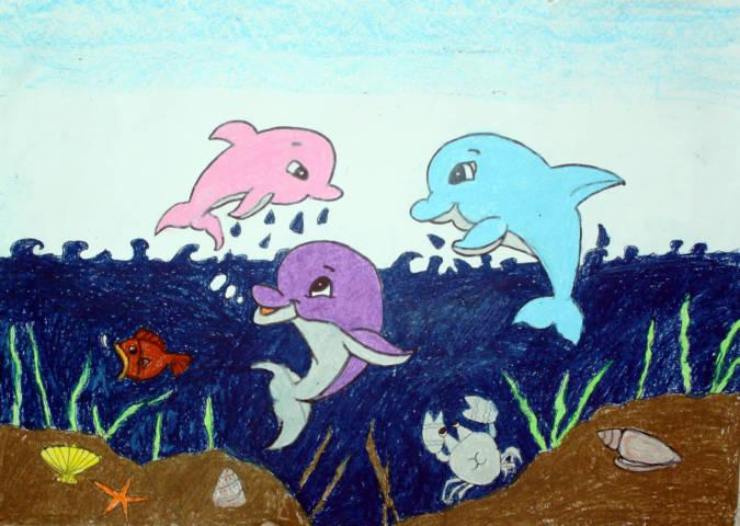 2014年海洋生物绘画比赛学生作品(三) 讨论区 - 大连